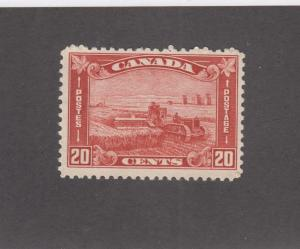 CANADA # 175  FVF-MLH  20cts HARVESTING WHEAT /BROWN RED/1930 CAT VALUE $55