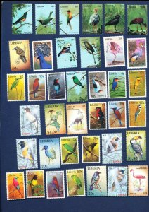 LIBERIA -- TWO SCANS - FVF MNH - BIRDS - 1985-2009