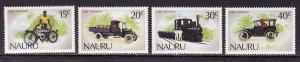 D1-Nauru-Scott#317-20-Unused NH set-Motorcycle-Train-Early T