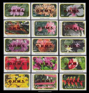 Cook Islands Scott O103-O117 Mint never hinged.