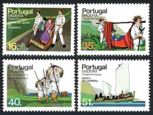 Portugal Madeira 97-100, MNH. Traditional means of transportation, 1984
