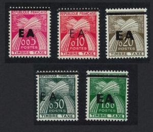 Algeria Postage Due stamps of France Typographic overprints 'EA' 5v SG#D391-D395