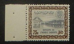 Saudi Arabia 224. 1960 75p Brown and gray Dam, NH