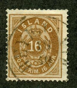 ICELAND SCOTT# 12 FINELY USED AS SHOWN CATALOGUE VALUE $65
