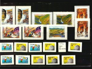 Uruguay deffinitive stamps value $150 waterfall cave van pc eagle child drawing