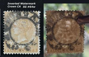 Malaya Straits Settlements 1883 INVERTED WMK CCA QV 4c Used  SG#64w CV£180 M1843