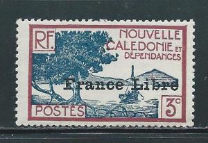 New Caledonia 219 3c France Libre single MNH