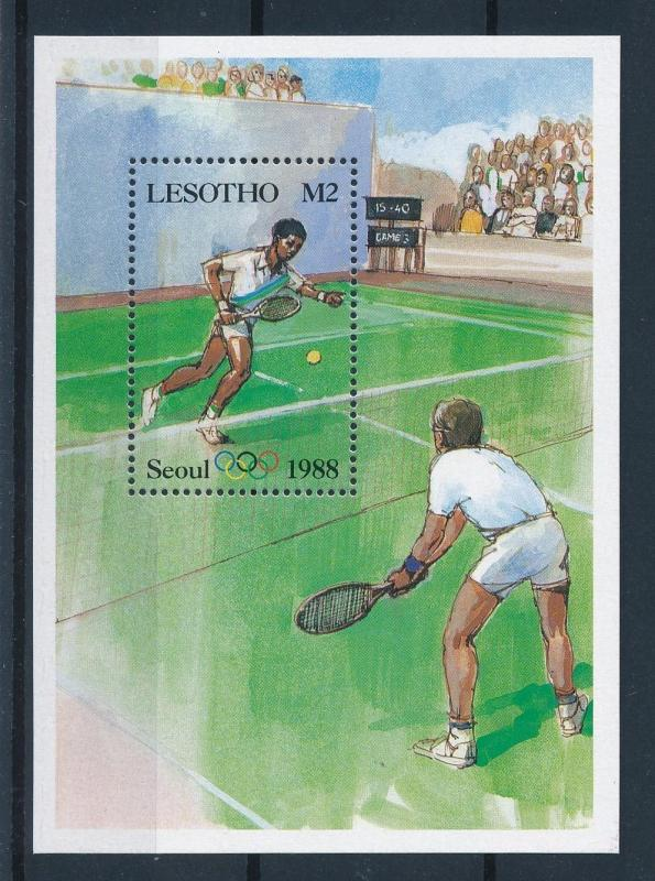 [60909] Lesotho 1987 Olympic games Seoul Tennis MNH Sheet