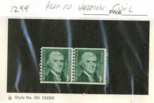 United States #1299, UNUSED PAIR - 1968 - USA712