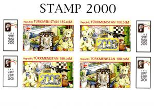 TURKMENISTAN SHEET IMPERF TEDDY BEARS