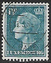 Luxembourg # 255 - Grand Duchesse Charlotte - 1.50F - used...(KlGr)
