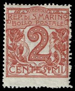 San Marino #41 Numeral; Unused (1.50)