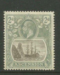 ASCENSION 1924 Sg 13, 2d Grey-Black & Grey, LM/Mint with gum. ( Box 5-7}