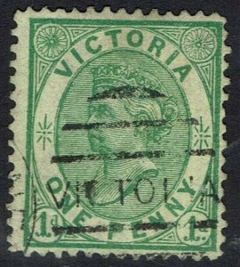 VICTORIA 1878 QV 1D ON YELLOW EMERGENCY PAPER USED