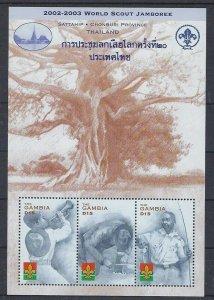 2002 Gambia World Scout Jamboree Thailand m/s 3