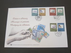 United Nations (NY,Vienna,Geneva) 1977 Sc 328-9,312-3,714-5 FDC