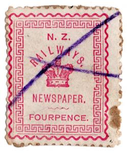 (I.B) New Zealand Railways : Newspaper Stamp 4d
