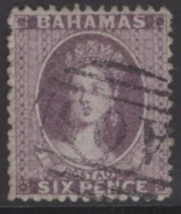 BAHAMAS SG19a 1862 6d LILAC USED