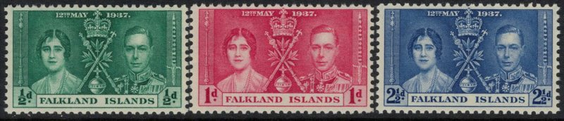 Falkland Is. #81-3* NH  CV $4.00