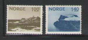 Norway Sc 631-2 1974 Lindesnes North Cape stamps mint NH