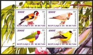 Burundi 2011 Birds (12) Parrots MNH Cinderella !