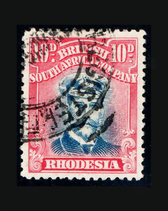 VINTAGE: RHODESIA 1913 USED LH  SCOTT #129A $75 LOT #9262