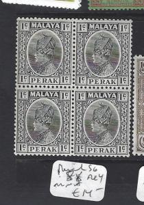 MALAYA PERAK   (P1409B)   SULTAN  1C    SG  88  BL 4  MNH