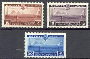 Egypt Sc# 228-230 MH 1938 Pyramids & Colossus