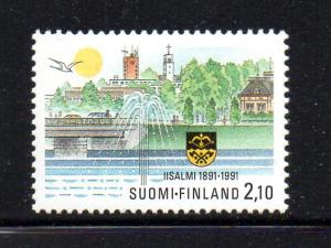 Finland Sc 873 1991 Town of Iisalmi stamp mint NH