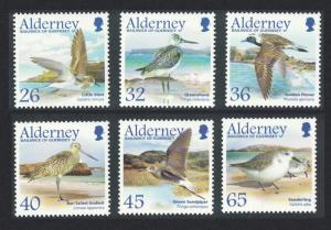Alderney Migrating Birds 4th series Waders 6v SG#A259-64
