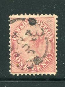 Canada #14viii    Used  VF  dated   -  Lakeshore Philatelics