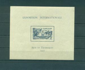 Guadeloupe sc# 154 (2) s/s mnh cat value $13.00
