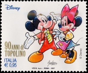 Italy 2017 Mickey Mouse and Minnie mint**