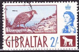 GIBRALTAR 1960 2/- Chocolate & Ultramarine SG170 Used