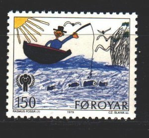 Faroe Islands. 1979. 46. UNICEF children's drawing. MNH.