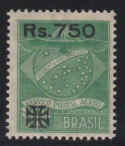 Brazil 1930 750r on 1300r Green Syndicato Condor VLM Mint. Scott 1CL13