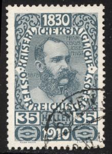 Austria 1910  Scott #138 used (CV 12.00)