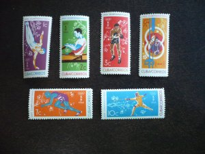 Stamps - Cuba - Scott# 852-857 - Mint Hinged Set of 6 Stamps
