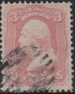United States Scott 65 Used with small crease.
