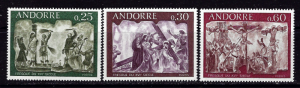 French Andorra 185-87 NH 1968 Frescoes