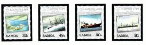 Samoa 624-27 MNH 1984 Lloyds List