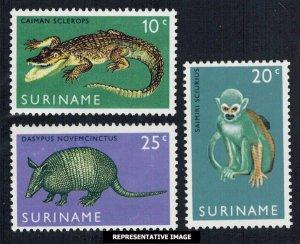 Surinam Scott 362-364 Mint never hinged.