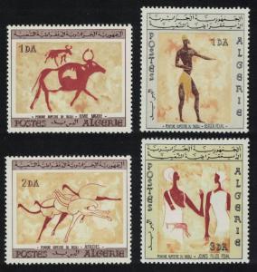 Algeria Rock paintings of Tassili-N-Ajjer 4v issue 1966 SG#451-454 SC#344-347