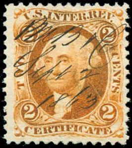 momen: US Stamps #R8c Revenue Manuscript Used VF+
