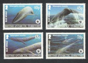 BAT WWF Blue Whale 4v SG#361-364 MI#353-356 SC#326-329