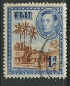 Fiji - Scott 118 - KGVI - Definitive - 1938 - Used - Single 1d Stamp