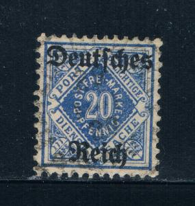 Wurttemberg Germany O62 Used Official overprint (W0001)