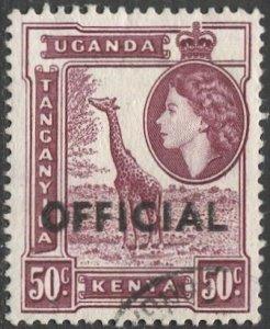 TANGANYIKA  1959 Sc O6 50c Used VF  Official stamp, Giraffe