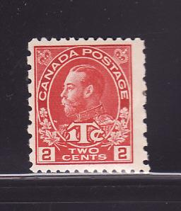 Canada MR5 MH War Tax Stamp, King George V (A)