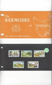 Isle of Man 177-81 Kermodes of Tasmania MNH Presentation Folder
